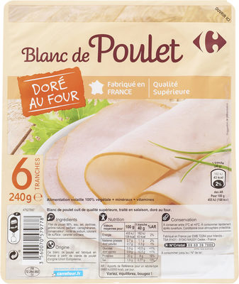 Blanc de  poulet  Doré au Four - Product - fr