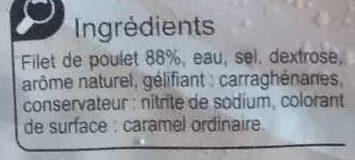 Blanc de  poulet  Doré au Four - Ingredients - fr