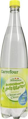 Les aromatisées- Intensément pétillante saveur Citron vert Citron - Product - fr