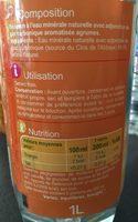 Les aromatisées Intensément pétillante Saveur Agrumes - Ingrédients - fr