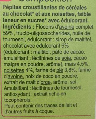 Crunchy Muesli Chocolat* Noisettes - Ingrédients - fr