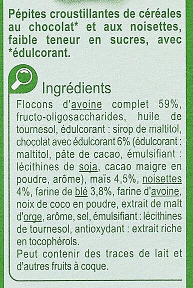 Crunchy Muesli Chocolat* Noisettes - Ingrediënten - fr
