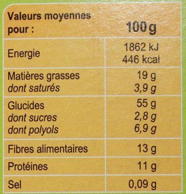 Crunchy Muesli Chocolat* Noisettes - Informations nutritionnelles - fr