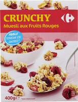 CRUNCHY Muesli aux Fruits Rouges - Produit - fr