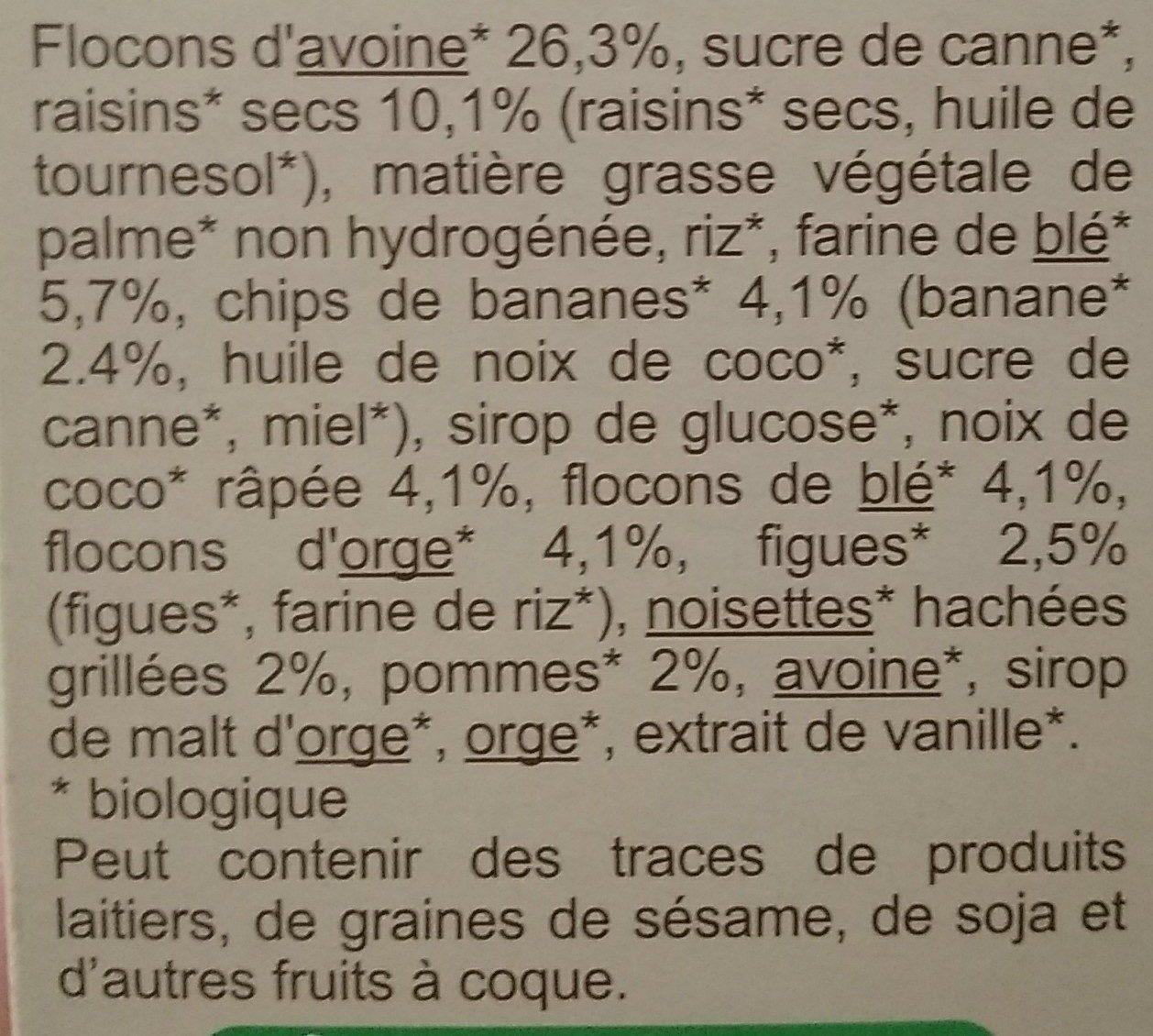 Muesli croustillant aux 6 fruits secs - Ingredients - fr