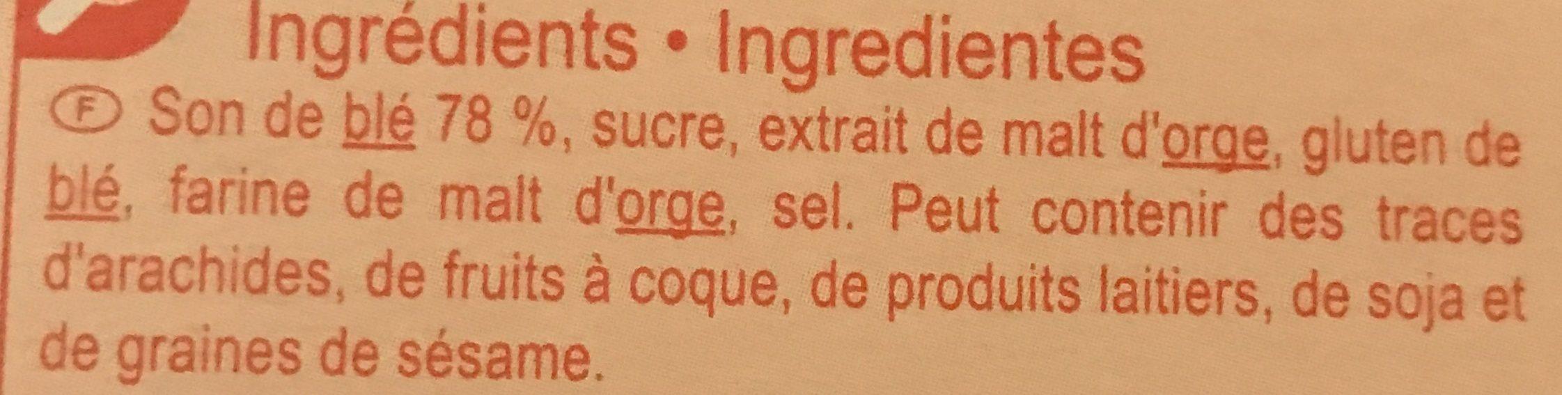 Fibra sticks - Ingrédients
