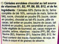 Electro Choc - Ingrédients - fr