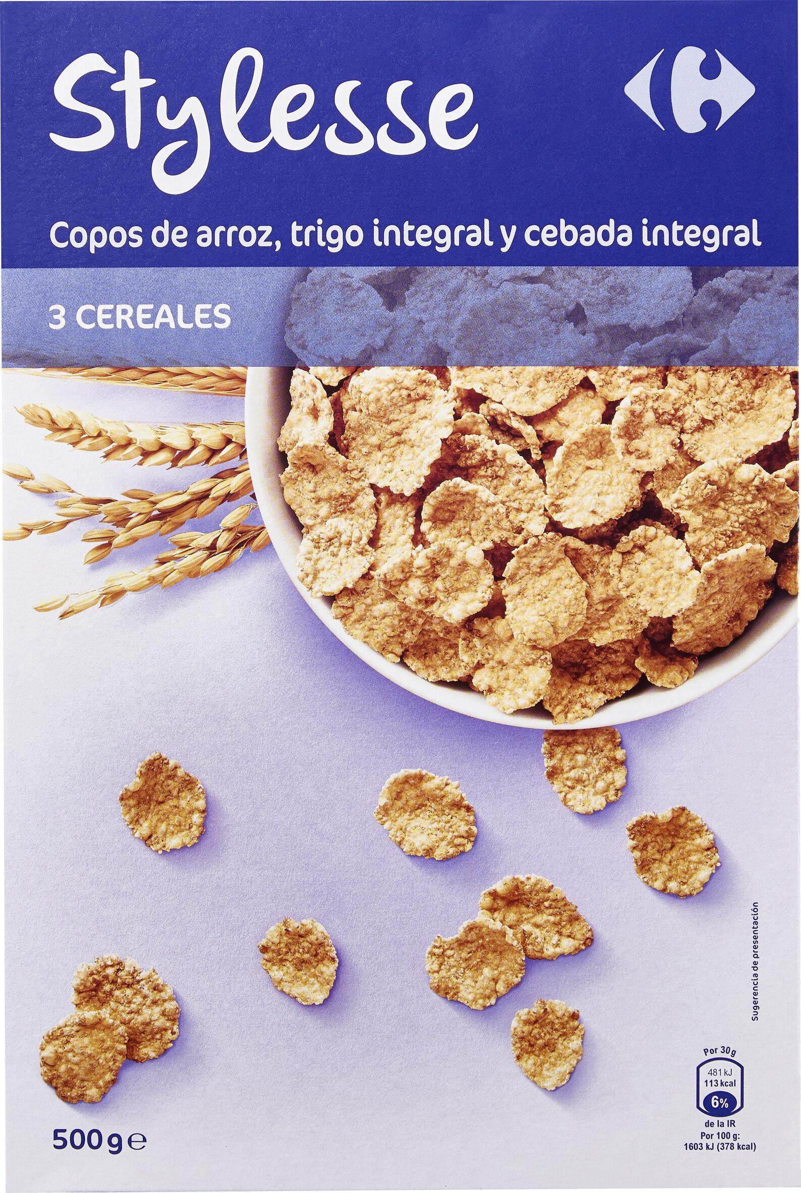 Stylesse Copos de arroz, trigo integral y cebada integral - Producto - es