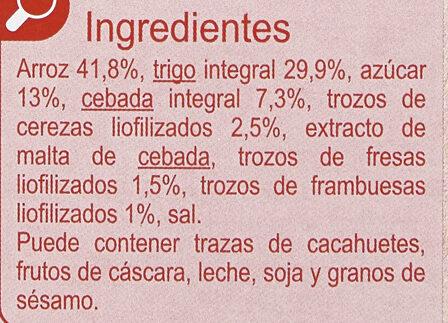Stylesse Frutos Rojos - Ingrédients - es