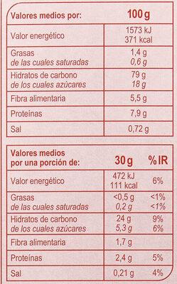 Stylesse Frutos Rojos - Informations nutritionnelles - es