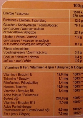 Stylesse Fruits rouges - Información nutricional - fr
