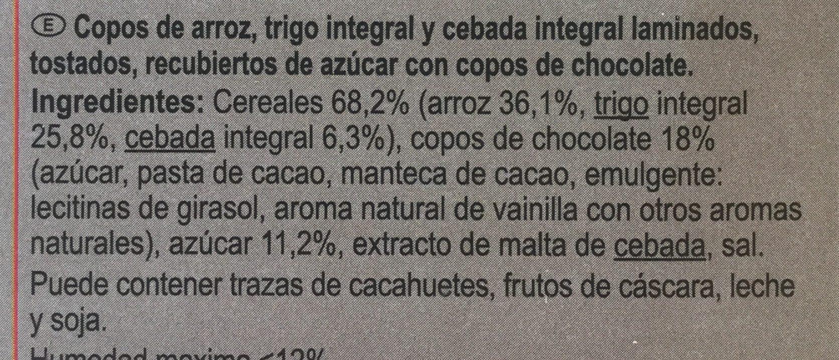 Stylesse chocolat noir - Ingredientes - es