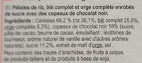 Stylesse chocolat noir - Ingredients - fr