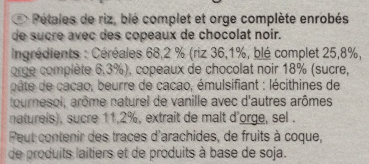 Stylesse chocolat noir - Ingrédients - fr