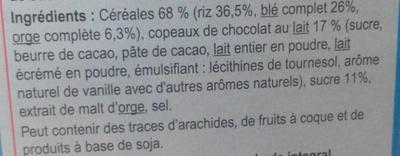 Stylesse chocolat au lait - Ingredients - fr