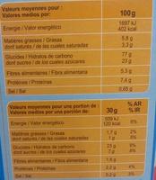 Stylesse chocolat au lait - Informació nutricional - fr