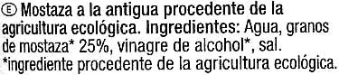 """Salsa de mostaza ecológica """"Carrefour Bio"""" A la antigua - Ingredients"""