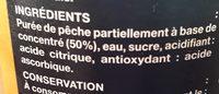 Pêche - Ingredienti - fr