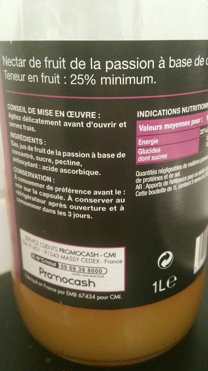 Nectare Fruit de la passion - Ingredienti - fr