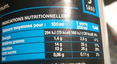 Noix de coco - Valori nutrizionali - fr