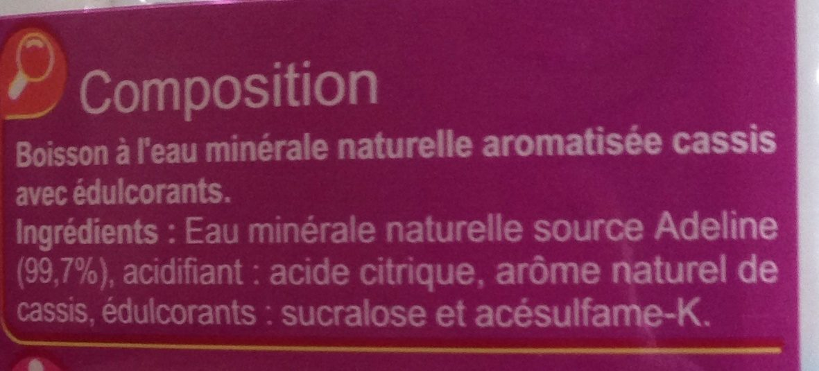 Les aromatisées - Ingredients