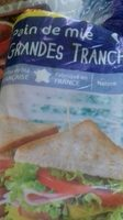 Pain de mie  Grandes Tranches - Ingrediënten