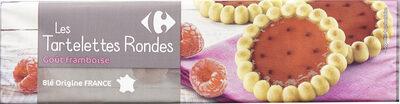 Les Tartelettes rondes A la framboise - Produit - fr