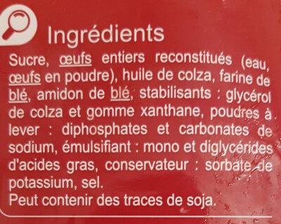 Moelleux Nature - Ingrédients - fr