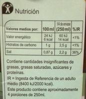 Caldo de hortalizas - Informations nutritionnelles