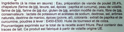 Nuggets de Poulet - Ingrédients