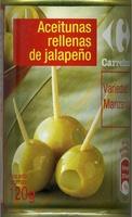 """Aceitunas verdes rellenas de jalapeño """"Carrefour"""" - Produit - es"""