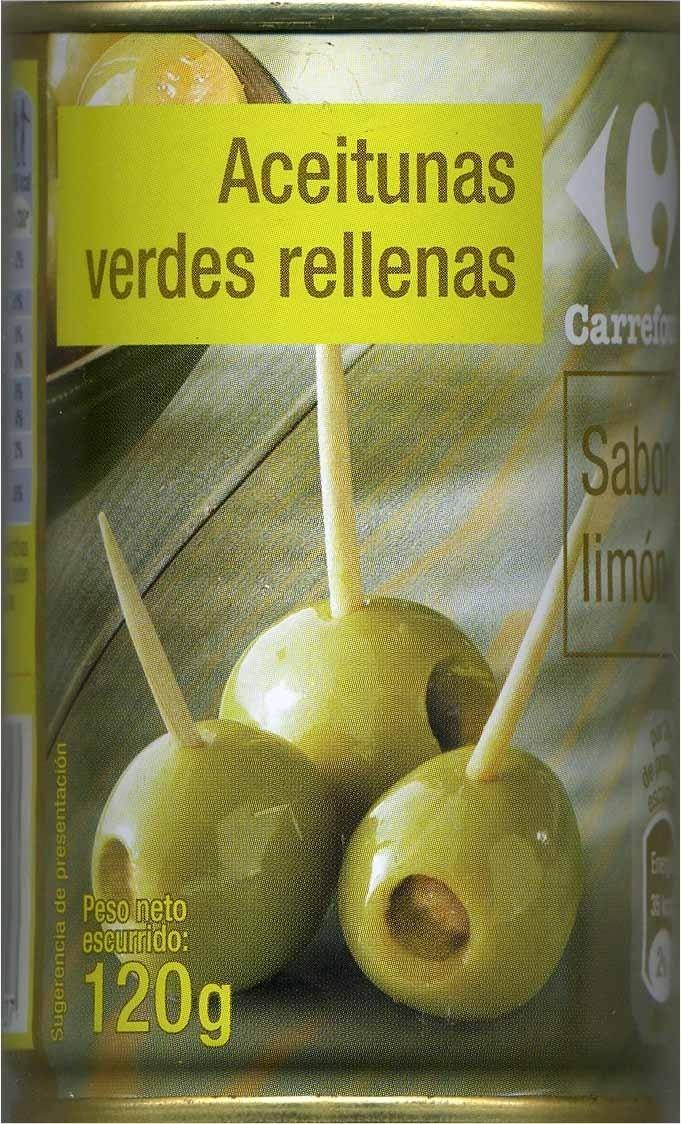 """Aceitunas verdes rellenas de pasta de limón """"Carrefour"""" - Product - es"""