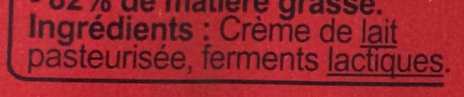 Beurre de laiterie doux - Ingredients - fr