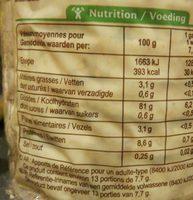 Galettes De Riz Complet et quinoa 100g - Voedingswaarden - fr