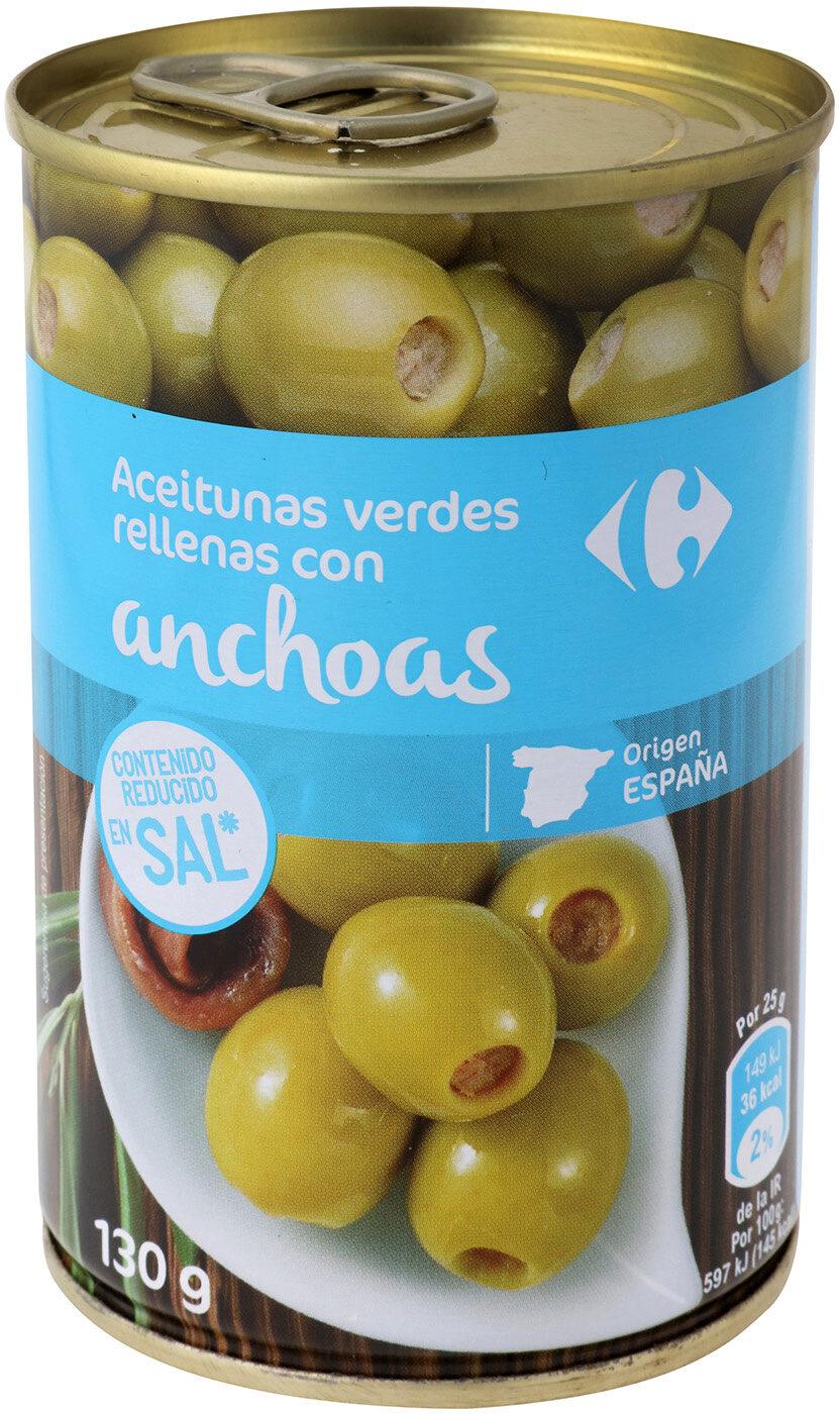 Aceituna rellena anchoa baja en sal -25% - Produit - es
