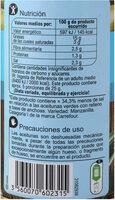 Aceituna rellena anchoa baja en sal -25% - Informations nutritionnelles - es