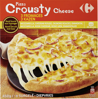Pizza Crousty Cheese 3 fromages - Product - fr