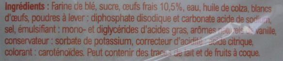 Barre Pâtissière aux oeufs frais - Ingrediënten - fr