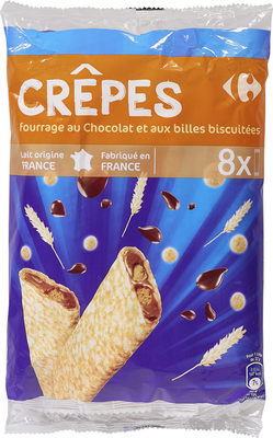 CRÊPES fourrage au Chocolat et aux billes biscuitées - Product - fr