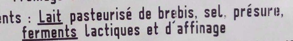 Pérail (28 % MG) - Ingrédients - fr