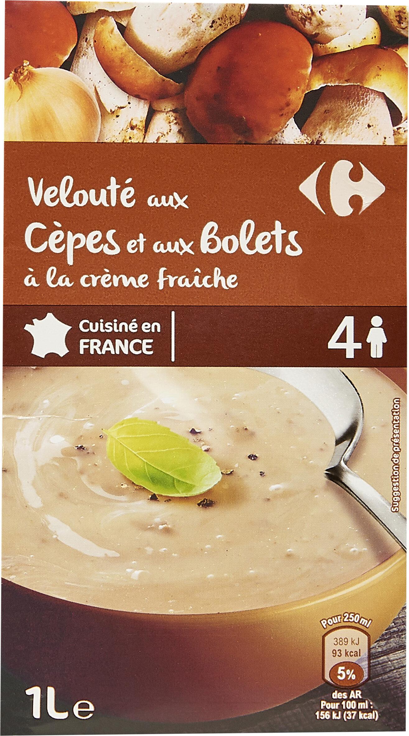 Velouté aux Cèpes et aux Bolets à la crème fraîche - Product - fr