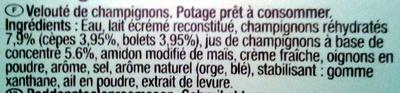 Velouté aux Cèpes et aux Bolets à la crème fraîche - Ingredients - fr