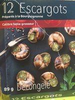 12 Escargots Préparés à la Bourguignonne - Voedingswaarden - fr