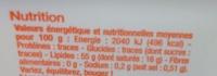 Matière grasse végétale - Valori nutrizionali - fr