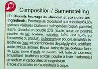 Fines gaufrettes chocolat noisettes - Ingrédients - fr