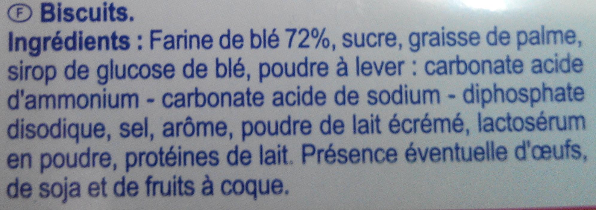 Le petit croquant - Ingrediënten - fr