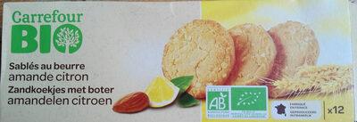 Sablés au beurre, amandes et citron - 产品 - fr