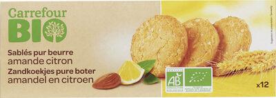 Sablés au beurre, amandes et citron - Product - fr
