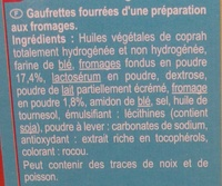 Gaufrettes aux Fromages - Ingredients - fr