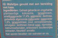 Gaufrettes aux Fromages - Ingrediënten - nl